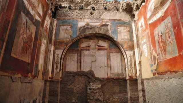 Frescos de las ruinas de Herculano.