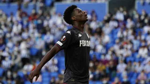 Tchouameni durante un partido con el AS Monaco