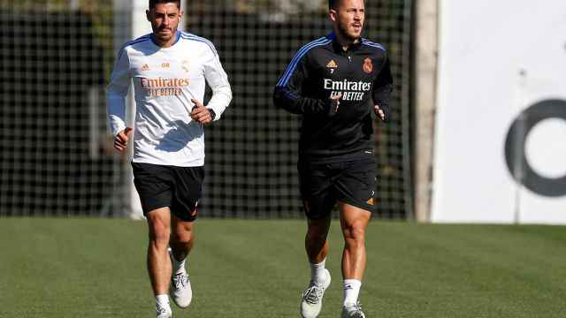 Hazard, Bale y Carvajal son noticia en el entrenamiento del Real Madrid