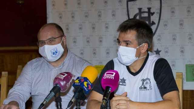 Manolo del Salto y Juanlu Alonso en rueda de prensa.