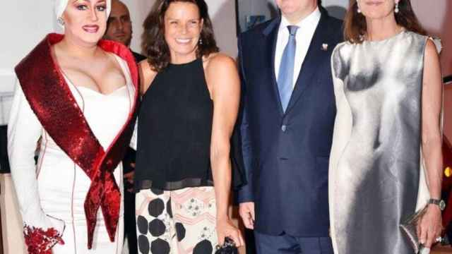 Manel Dalgó, junto a miembros de la Casa Real de Mónaco.