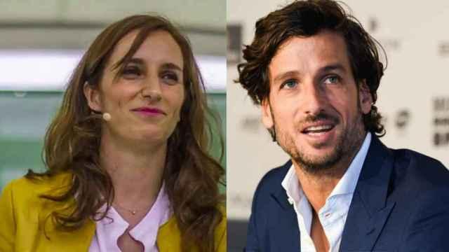 Mónica García y Feliciano López en un fotomontaje.