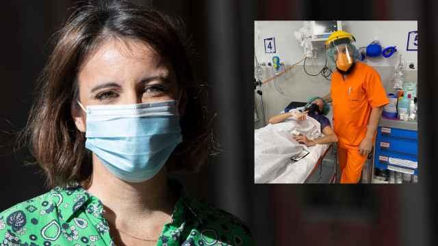 Andrea Levy en montaje de EL ESPAÑOL junto a la imagen de su ingreso hospitalario.