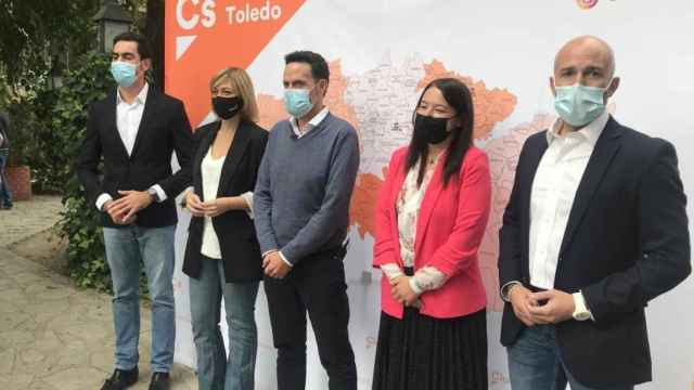 Edmundo Bal con la coordinadora autonómica de Cs, Carmen Picazo, y diputados provinciales y autonómicos.