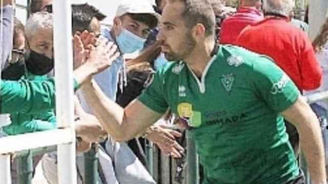 Andrés Martín, jugador del CD Villamuriel