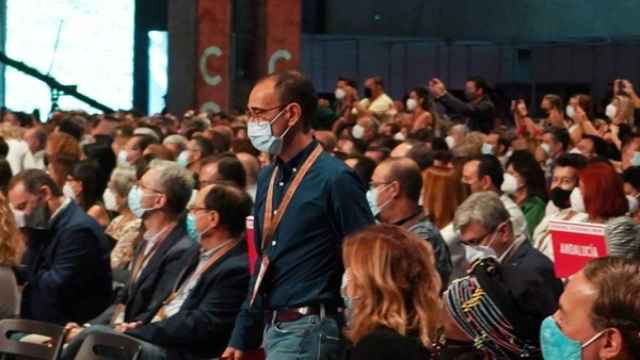 El salmantino David Serrada  durante la celebración del 40 Congreso del PSOE