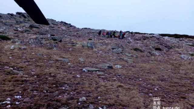 Rescate en la cumbre del Pico del Lobo