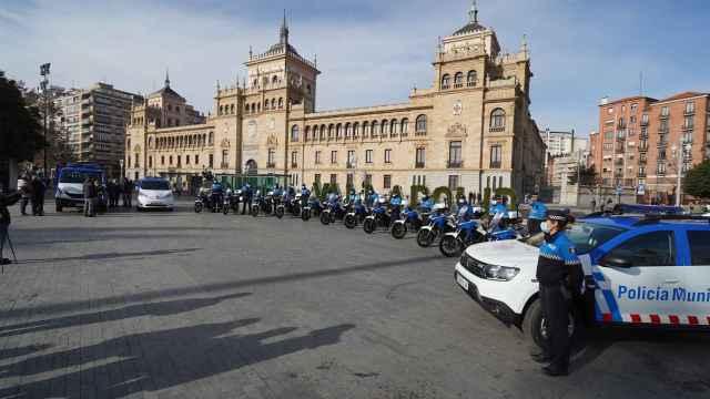 Vehículos nuevos de la Policía Municipal de Valladolid