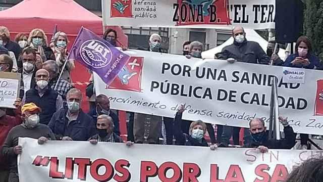 Manifestación por la sanidad pública rural en Zamora
