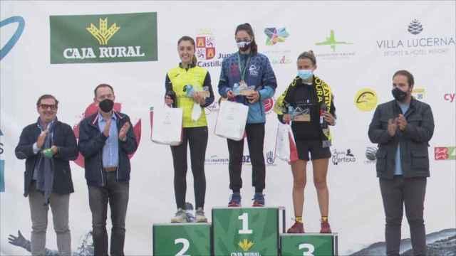 Podio femenino del Gran Premio Caja Rural de la Ultra Sanabria