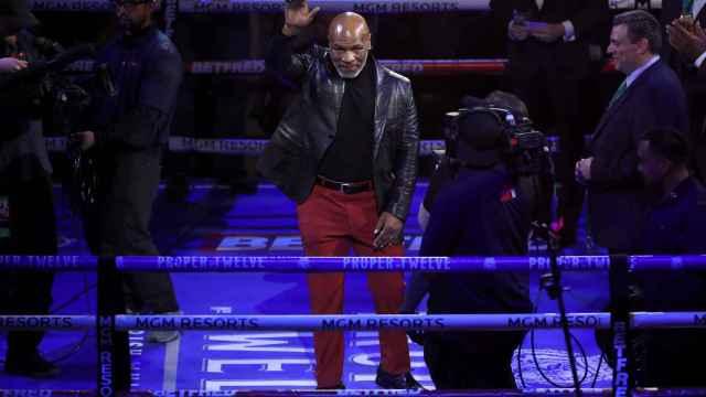 Mike Tyson, durante un combate de boxeo