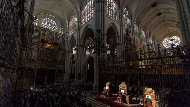 Imagen de archivo de uno de los conciertos de las Batallas de Órganos de la Catedral de Toledo.
