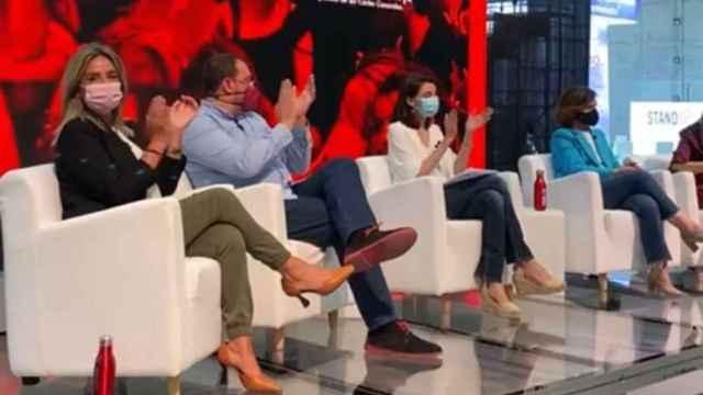 Milagros Tolón durante su intervención este viernes en el Congreso del PSOE.