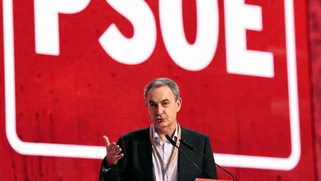 José Luis Rodríguez Zapatero, durante su intervención en el 40 Congreso Federal del PSOE. EFE