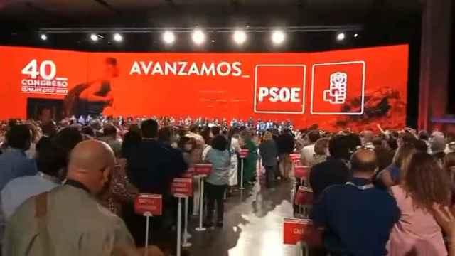Felipe González y José Luis Rodríguez Zapatero llegan al acto