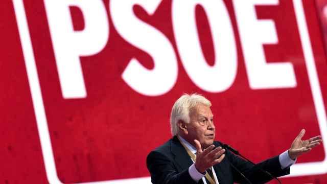 El ex presidente del Gobierno, Felipe Gonzalez, durante su intervención en el Congreso Federal del PSOE.