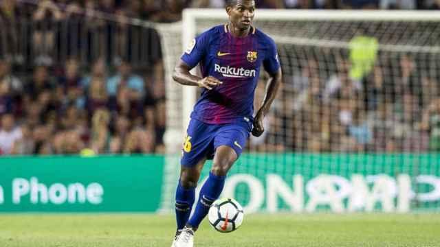 Marlon Santos durante un partido del FC Barcelona