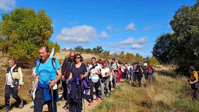 Participantes en Los Caminos de San Frutos, organizados por la Diputación de Segovia