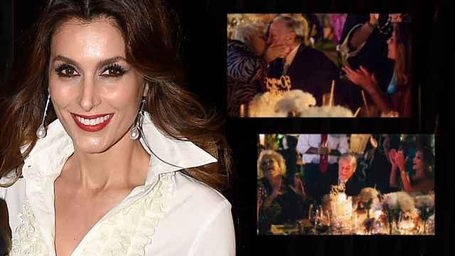 La diseñadora Paloma Cuevas en montaje de EL ESPAÑOL junto a sus padres el día de sus bodas de oro.