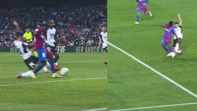Polémica en el Barça - Valencia: la acción en la que Gayá no toca a Ansu Fati pitada como penalti