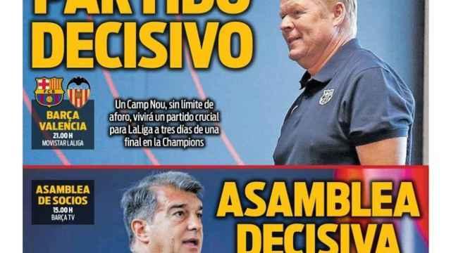 La portada del diario SPORT (17/10/2021)