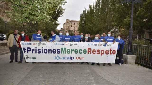 Protesta en Cuenca de los funcionarios de prisiones