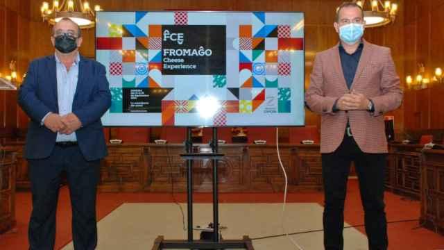 Presentación de la Feria con el diputado de Agricultura y el presidente de la Diputación