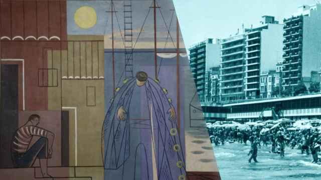 Vuelven las pinturas del Alicante idealizado que decoraba el pabellón donde vestir más decente.