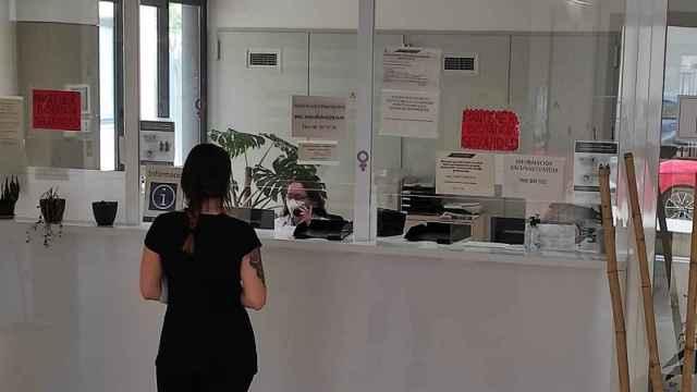 Mostrador de un centro de salud de la Comunidad Valenciana.
