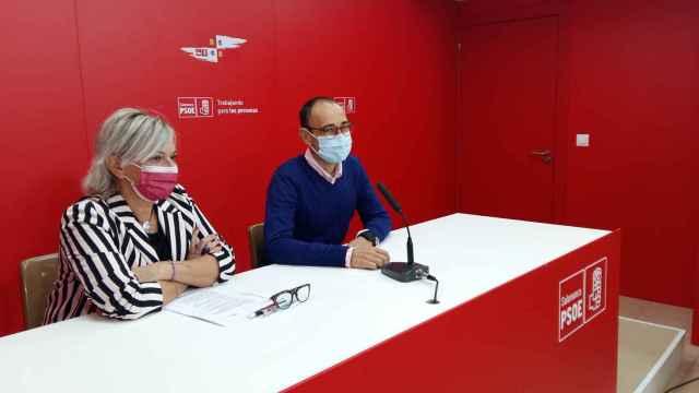Elena Diego y David Serrada comparecen ante los periodistas