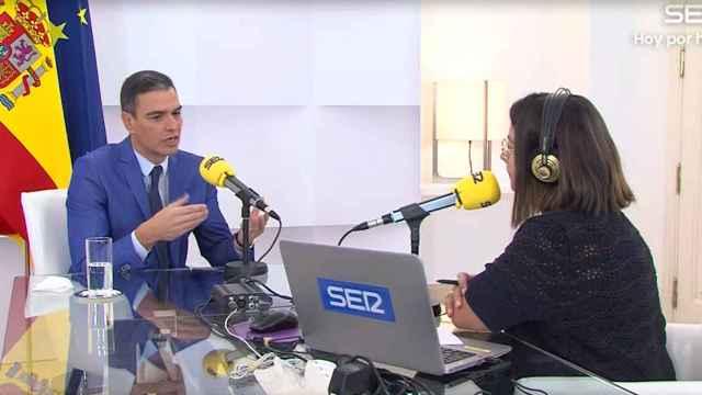 Pedro Sánchez en el programa Hoy por hoy de la cadena SER