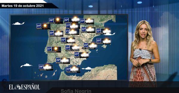 El tiempo del martes 19 de octubre: suben las temperaturas en el noroeste y bajan en Andalucía