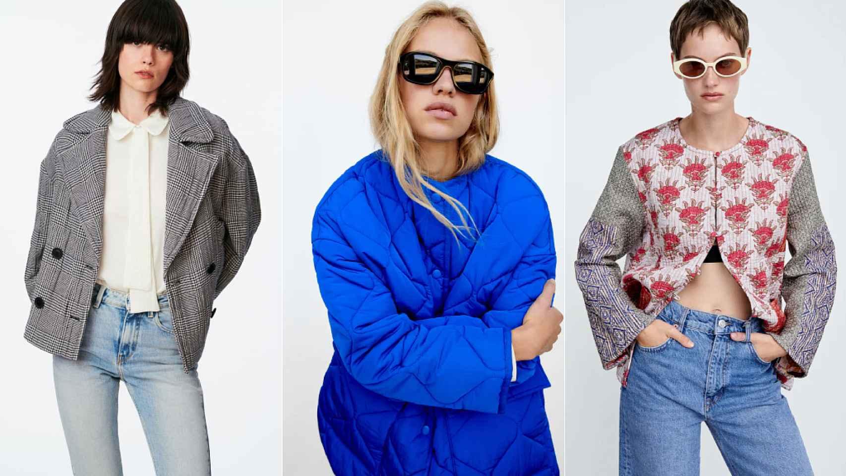 Chaquetas acolchadas de Zara.