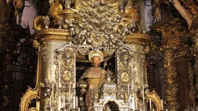 Imagen del apóstol Santiago el Mayor, en el templo gallego.