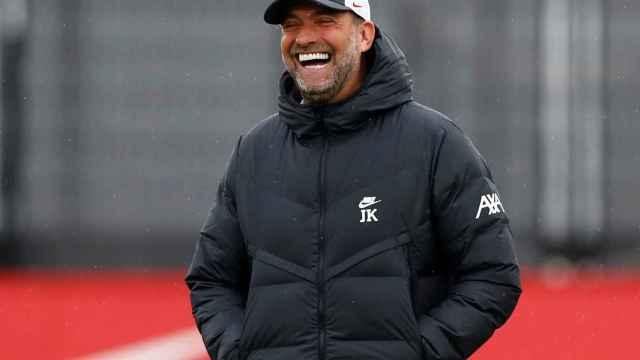 Jurgen Klopp, durante un entrenamiento con el Liverpool