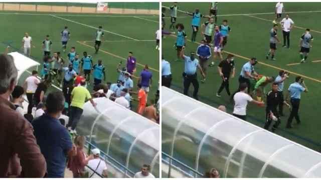 Brutal batalla campal en Portugal: nueve disparos al aire y un futbolista encañonado por la policía