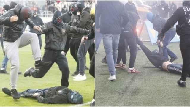 Las imágenes del deporte: la brutal pelea entre ultras que ha creado conmoción en Eslovaquia