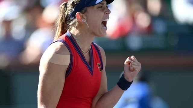 Paula Badosa celebra su victoria en Indian Wells