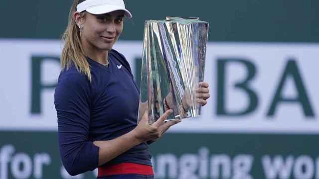 Badosa, con el título de campeona de Indian Wells.