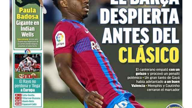 La portada del diario MARCA (18/10/2021)