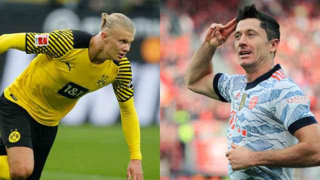 Haaland y Lewandowski