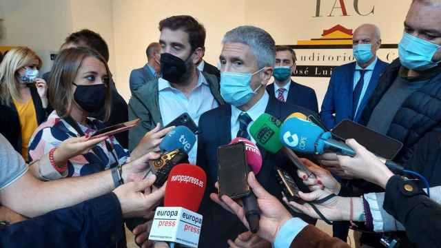 El ministro del Interior, Fernando Grande-Marlaska, este lunes en Cuenca