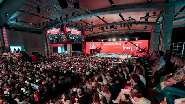 Vista del escenario principal del 40 Congreso Federal del PSOE.