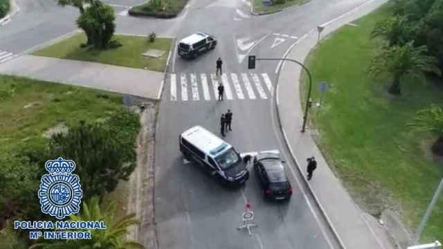 Control de la Policía Nacional en Marbella.