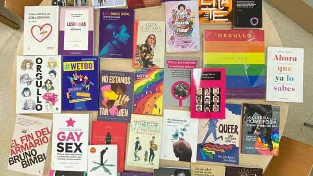 Una imagen de los libros comprados por el Ayuntamiento.