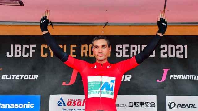 José Vicente Toribio en el podio.