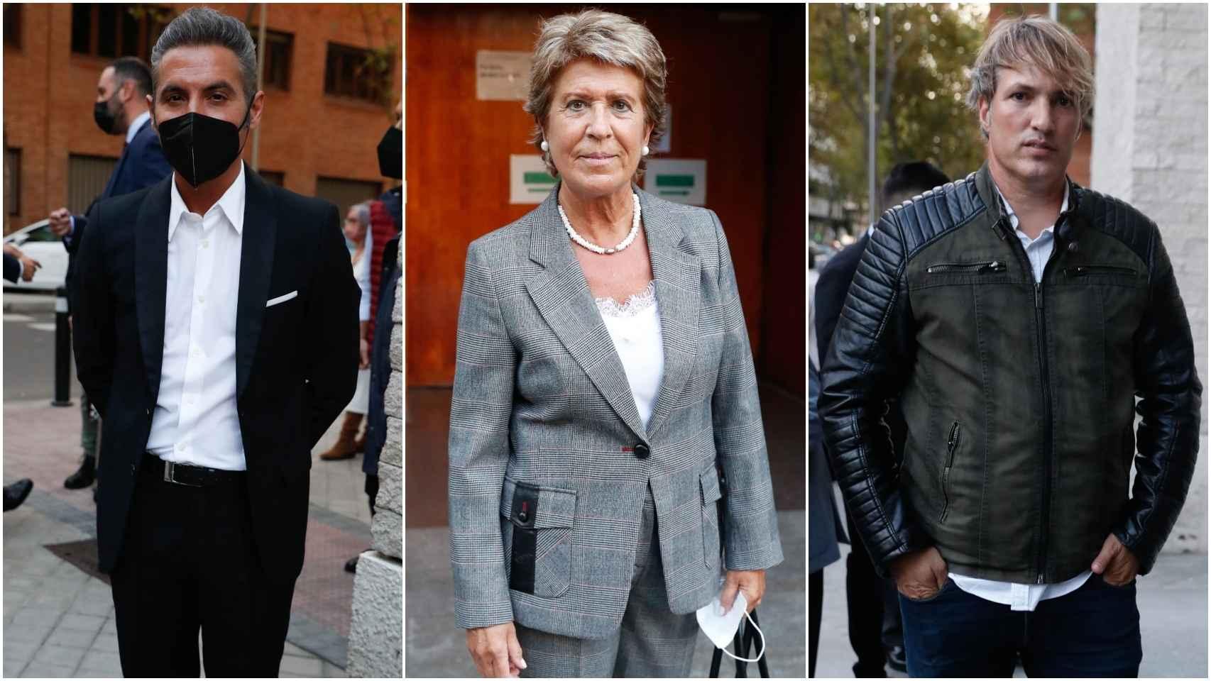 Pitingo, Conchita Pérez e Ismael Beiro en el último adiós a Begoña Sierra.