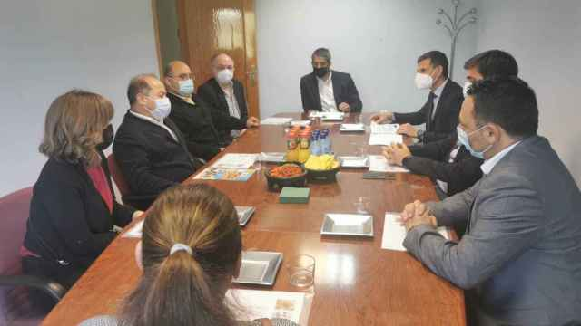 Foto de la reunión celebrada esta mañana
