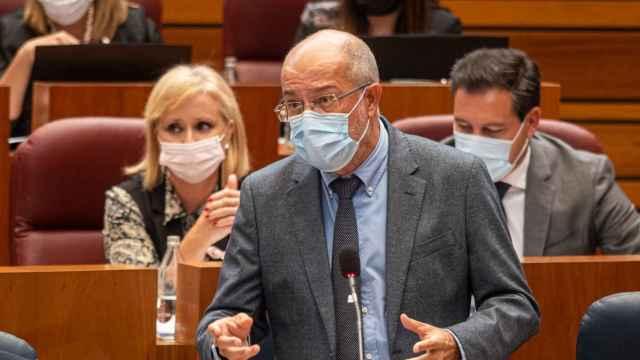 El vicepresidente de la Junta, Francisco Igea, durante el Pleno de las Cortes