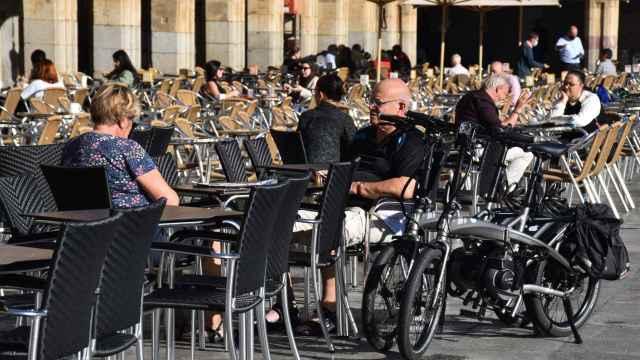 Terrazas de la Plaza Mayor de Salamanca